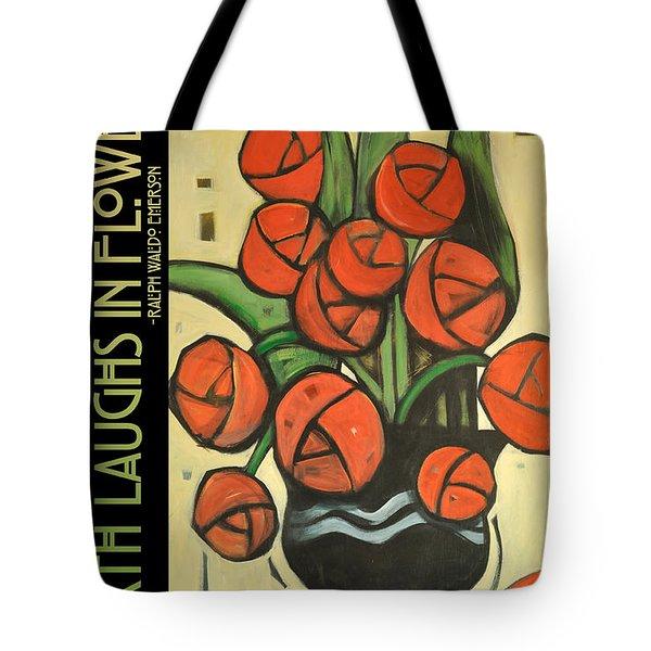 Roses In Vase Poster Tote Bag by Tim Nyberg