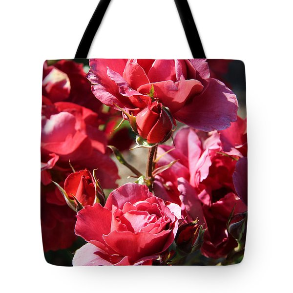 Tote Bag featuring the photograph Roses by Kerri Ligatich