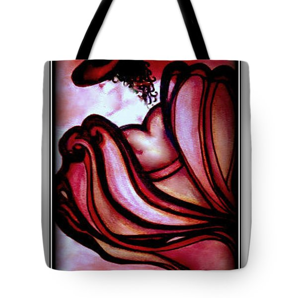 Tote Bag featuring the painting Rouge Mysterieuse by Danielle  Parent