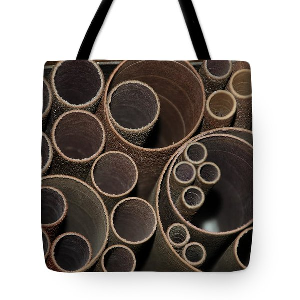 Round Sandpaper Tote Bag by Randy J Heath