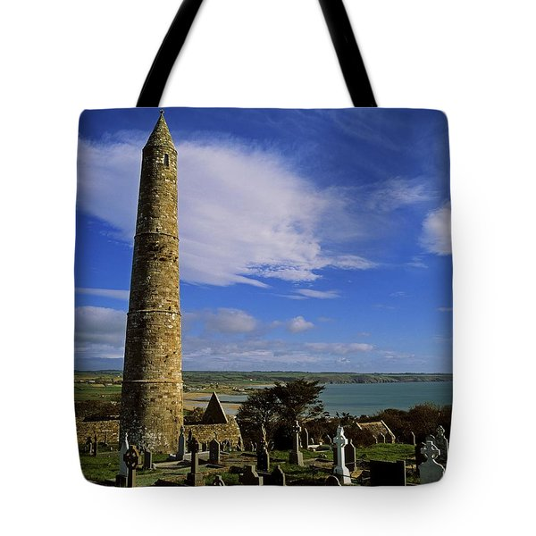 Round Tower, Ardmore, Co Waterford Tote Bag by The Irish Image Collection