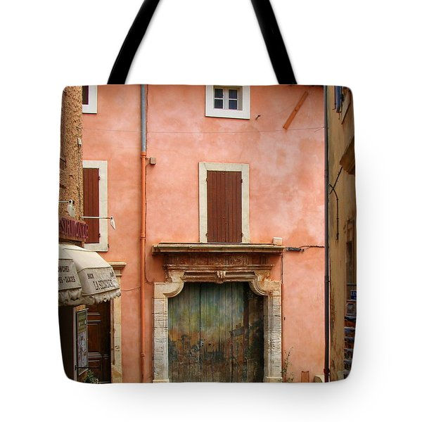 Roussillon Painted Door Tote Bag by Carla Parris