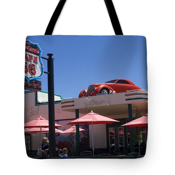 Route 66 Cruisers Williams Arizona Tote Bag by Bob Christopher