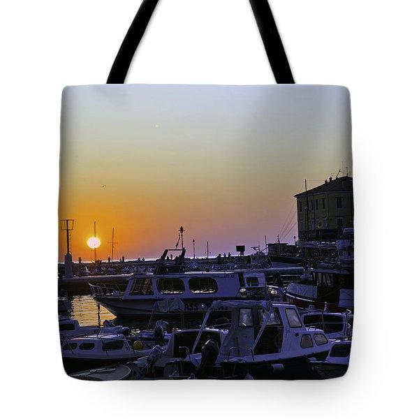 Rovinj Sunset Tote Bag by Madeline Ellis