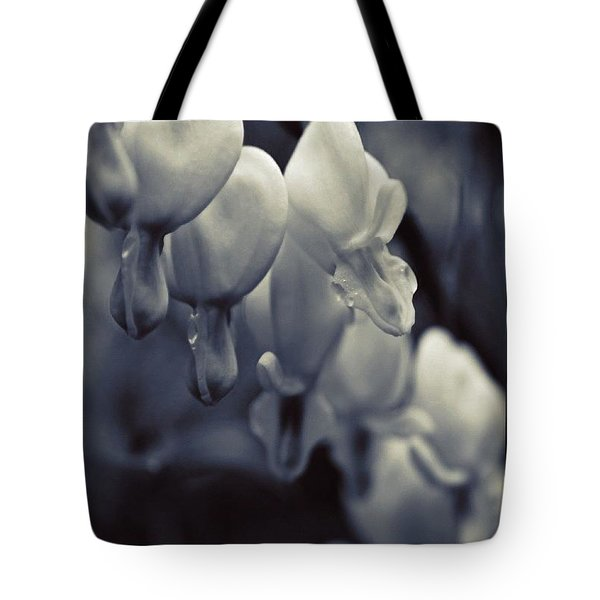 Row Of Bleeding Hearts In Bw Tote Bag
