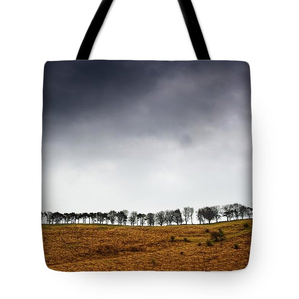 Row Of Trees In A Field, Yorkshire Tote Bag by John Short
