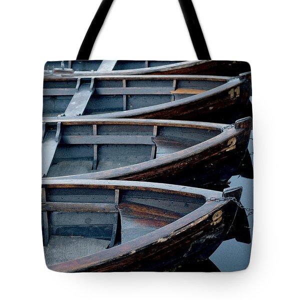 Rowboats Tote Bag by Robert Lacy