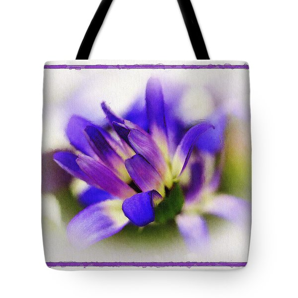 Royal Purple Tote Bag by Judi Bagwell