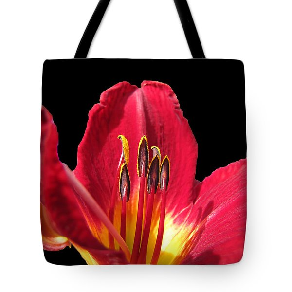 Tote Bag featuring the photograph Royal Red by Debbie Portwood
