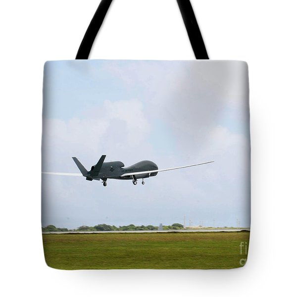 Rq-4 Global Hawks First Flight Tote Bag by Photo Researchers
