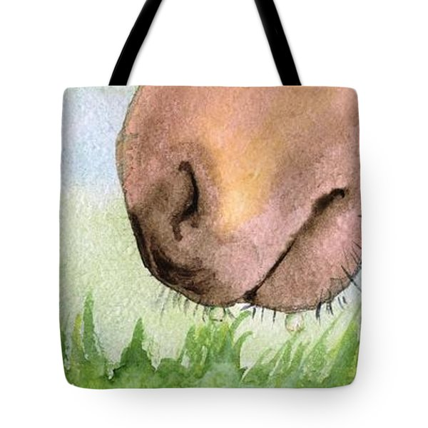 Tote Bag featuring the painting Rubbing Your Nose In It by Annemeet Hasidi- van der Leij