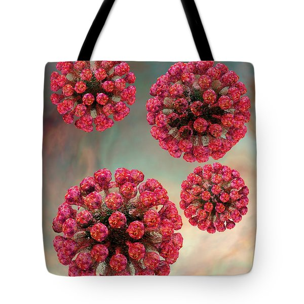 Rubella Virus Particles Tote Bag
