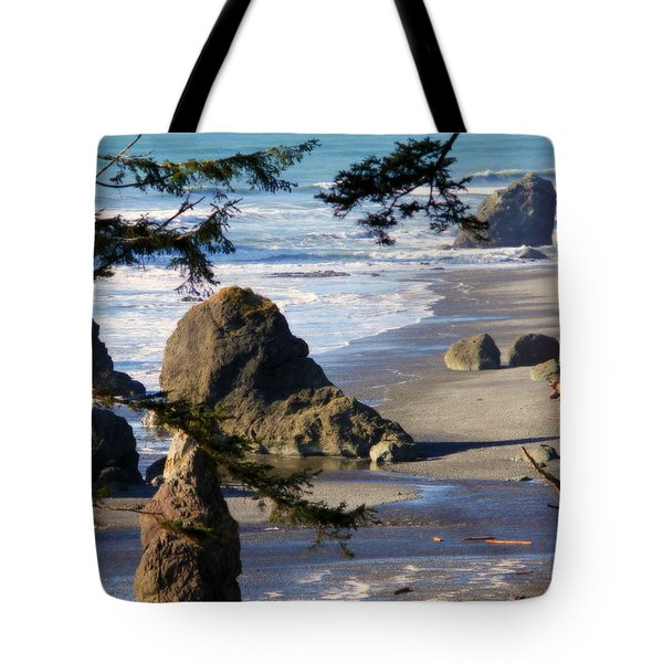 Ruby Beach Iv Tote Bag by Jeanette C Landstrom