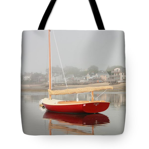 Ruby Red Catboat Tote Bag