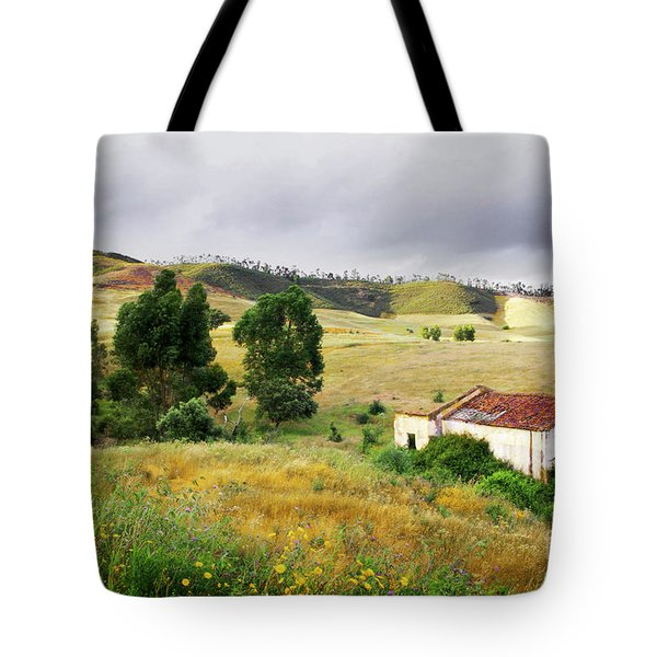 Ruin In Countryside Tote Bag by Carlos Caetano