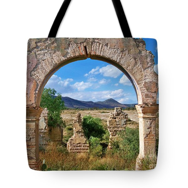 Tote Bag featuring the photograph Ruins Of Mineral De Pozos by John  Kolenberg