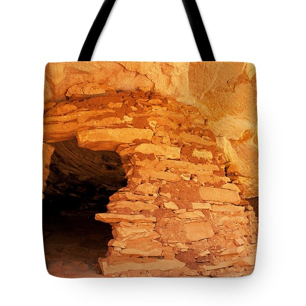 Ruins Structure Tote Bag by Bob and Nancy Kendrick