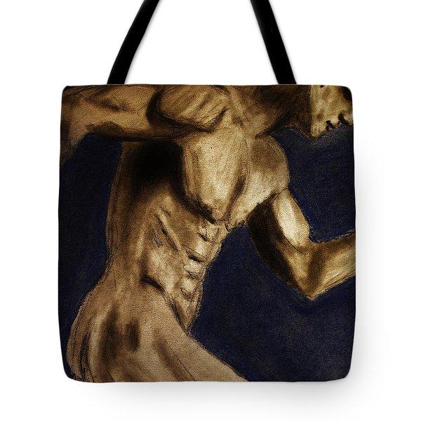Running Man Tote Bag by Michael Cross