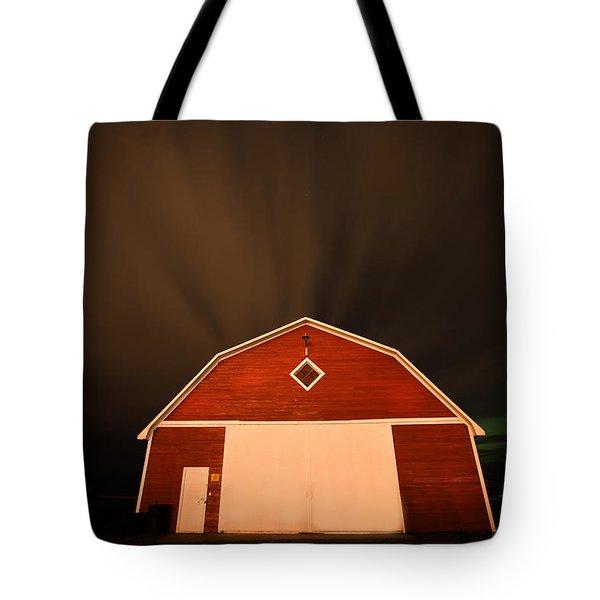 Rural Barn Night Photograhy Tote Bag by Mark Duffy
