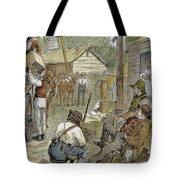 Rural Coach Stop, 1842 Tote Bag by Granger