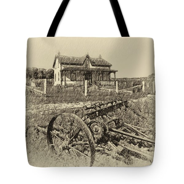 Rural Ontario Antique Tote Bag by Steve Harrington