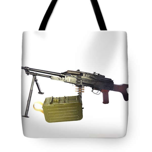 Russian Pkm General-purpose Machine Gun Tote Bag by Andrew Chittock