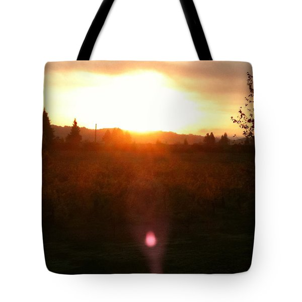Russian River Sunrise Tote Bag