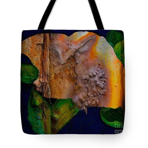 Rust Texture 3  Tote Bag by Barbara Griffin