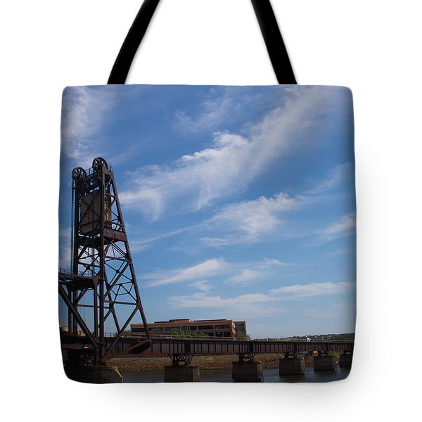 Tote Bag featuring the photograph Rusted Bridge by Stephanie Nuttall
