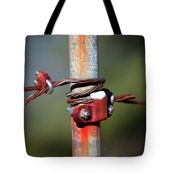 Rusted Fence Post 2 Tote Bag