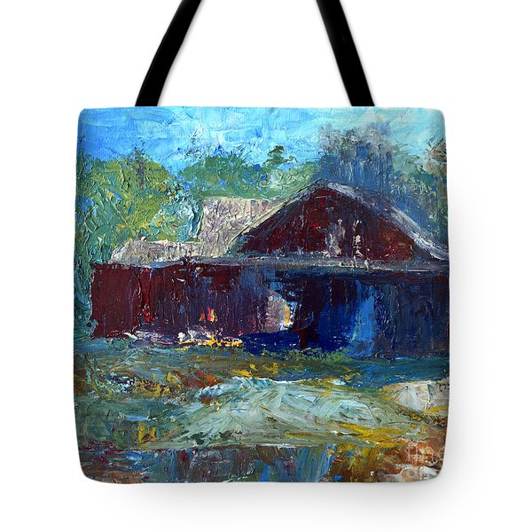 Rustic Barn Tote Bag by Claire Bull
