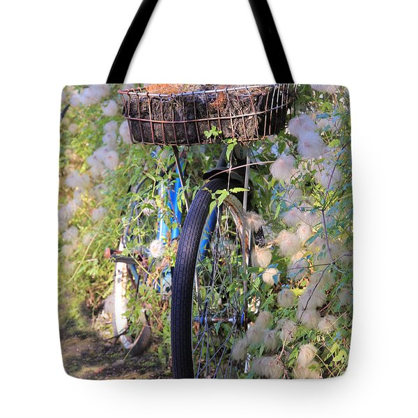 Rustic Bicycle Tote Bag by Athena Mckinzie
