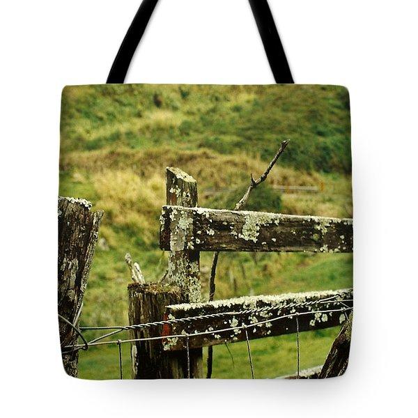 Rustic Fence Tote Bag by Marilyn Wilson