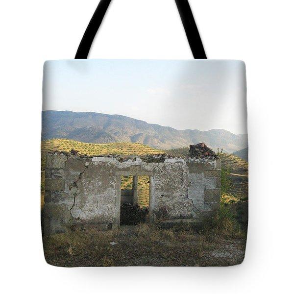 Rustic Scene Tote Bag by Arlene Carmel
