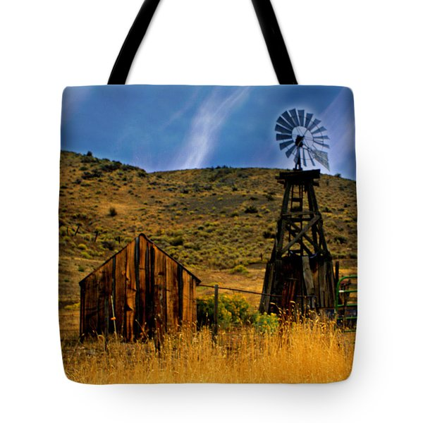 Rustic Windmill Tote Bag by Marty Koch