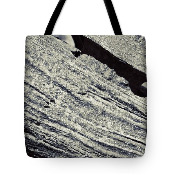 Rusty Anchor In Bw Tote Bag