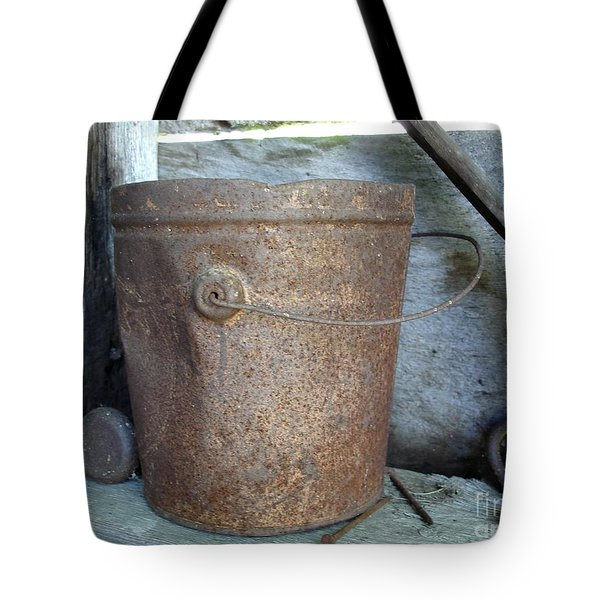 Rusty Bucket Tote Bag