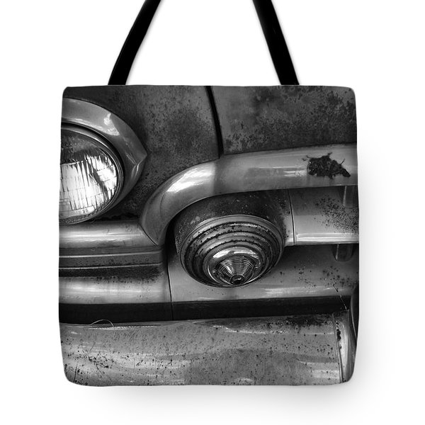Rusty Cadillac Detail Tote Bag by Lyle Hatch