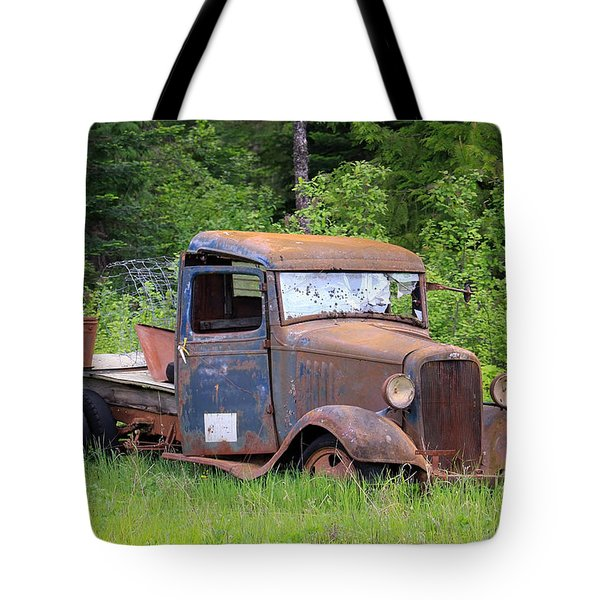 Tote Bag featuring the photograph Rusty Chevy by Steve McKinzie