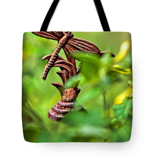 Rusty Dragonfly Tote Bag by Christopher Holmes