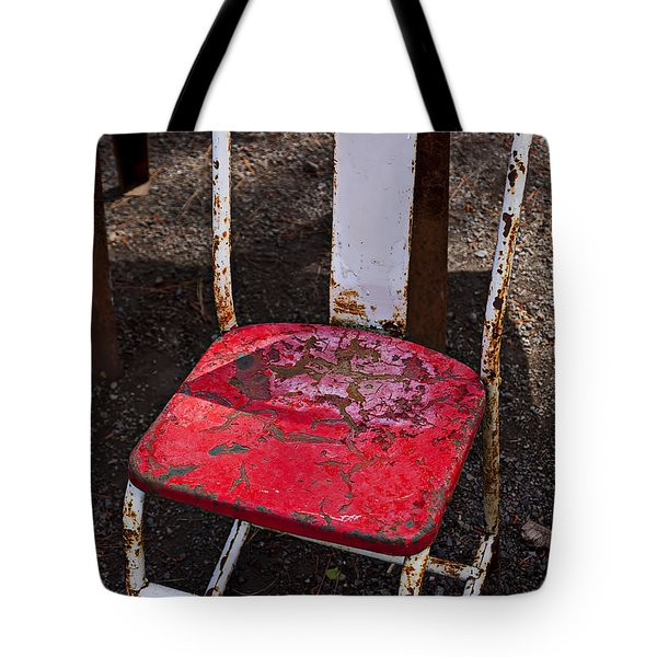 Rusty Metal Chair Tote Bag by Garry Gay