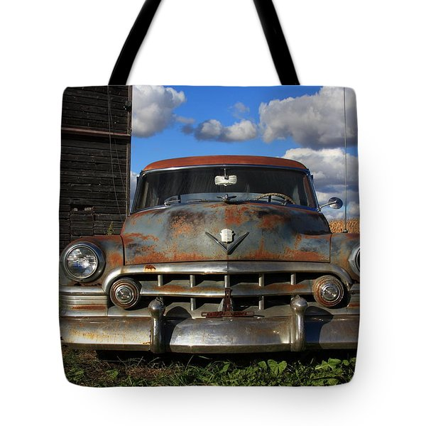 Rusty Old Cadillac Tote Bag by Lyle Hatch