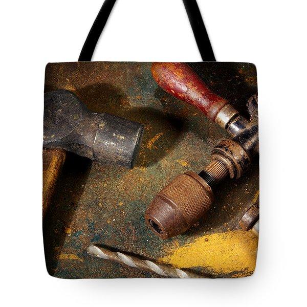 Rusty Tools Tote Bag by Carlos Caetano