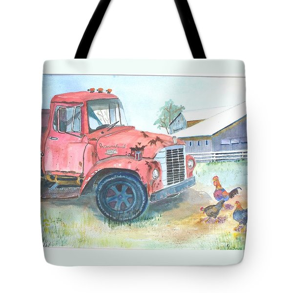 Rusty Truck Tote Bag by Christine Lathrop