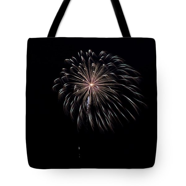 Tote Bag featuring the photograph Rvr Fireworks 10 by Mark Dodd