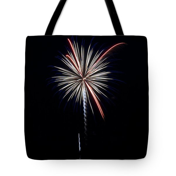 Tote Bag featuring the photograph Rvr Fireworks 11 by Mark Dodd