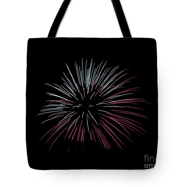 Tote Bag featuring the photograph Rvr Fireworks 15 by Mark Dodd