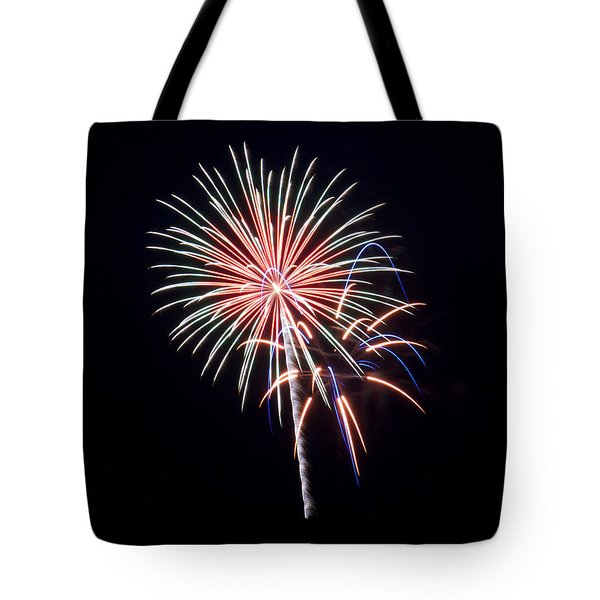 Tote Bag featuring the photograph Rvr Fireworks 16 by Mark Dodd