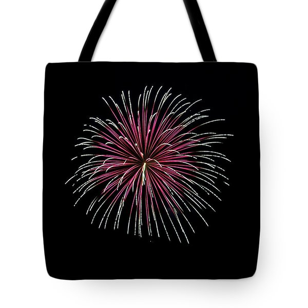 Tote Bag featuring the photograph Rvr Fireworks 8 by Mark Dodd