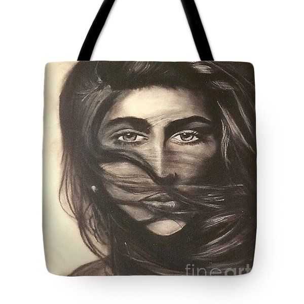 Tote Bag featuring the drawing Ryan's School Folder by Carrie Maurer
